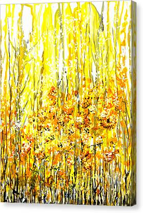 Golden Meadow Canvas Print by Elaine Hodges