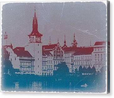Golden Prague Canvas Print by Naxart Studio