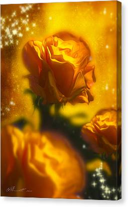 Golden Roses Canvas Print by Svetlana Sewell