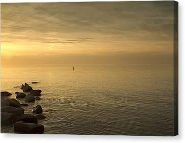 Golden Sea Canvas Print by Bob Retnauer