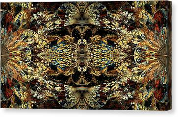 Golden Split Crop Canvas Print by Peggi Wolfe