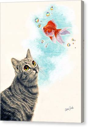 Goldfish Dreams Canvas Print by Callie Fink