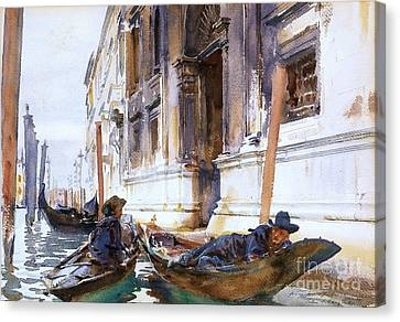 Gondoliers  Siesta Canvas Print by Pg Reproductions