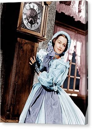 Gone With The Wind, Olivia De Canvas Print by Everett
