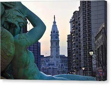 Good Morning Philadelphia Canvas Print by Simon Wolter