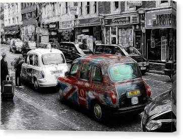 Good Old London Cab Canvas Print by Stefan Kuhn