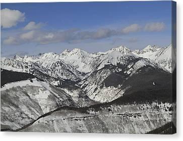 Gore Range, Dillon, Colorado, In Winter Canvas Print by John Kieffer