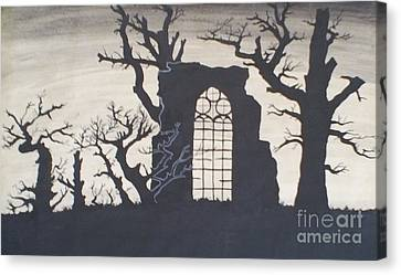 Gothic Landscape Canvas Print by Silvie Kendall
