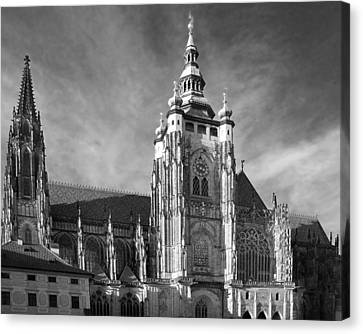 Gothic Saint Vitus Cathedral In Prague Canvas Print by Christine Till