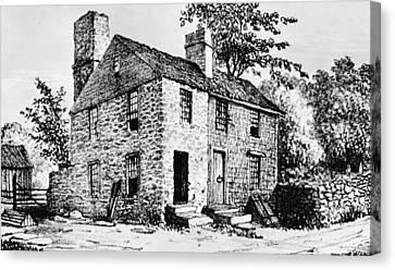 Governor Caleb Carr House. A House Canvas Print by Everett