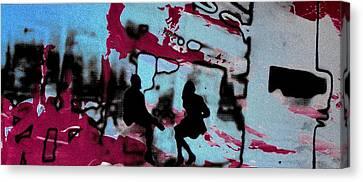 Graffiti - Urban Art Serigrafia Canvas Print by Arte Venezia