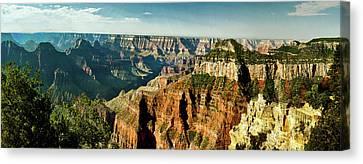 Grand Canyon Angel Panorama Canvas Print by Bob and Nadine Johnston