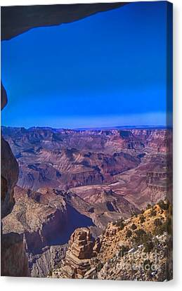 Grand Canyon Overlook Canvas Print by Jeremy Linot