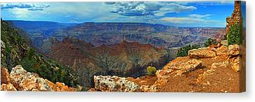 Grand Canyon Panoramic View Canvas Print by Gene Sherrill