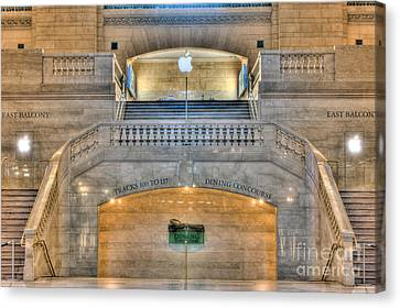Grand Central Terminal East Balcony I Canvas Print by Clarence Holmes
