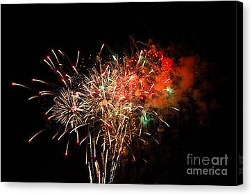 Grand Haven Mi Fireworks Canvas Print by Robert Pearson