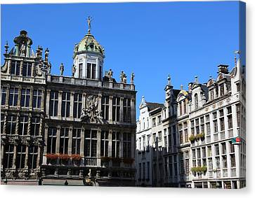 Grand Place Buildings Canvas Print by Carol Groenen
