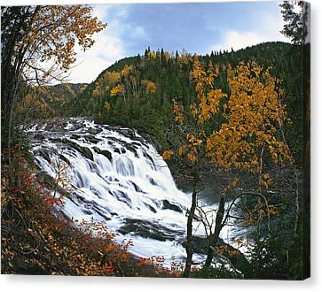 Grand-sault Falls On Madeleine River Canvas Print by Yves Marcoux