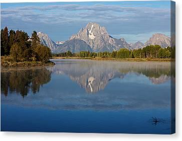 Grand Teton Morning Canvas Print by Johan Elzenga