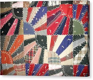 Grandma Baird's Quilt Canvas Print by Wayne Potrafka