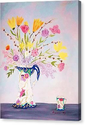 Grandma's Chocolate Set Canvas Print by Alanna Hug-McAnnally