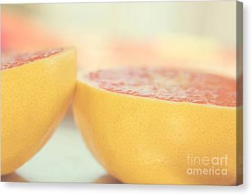 Grapefruit Canvas Print by Kim Fearheiley