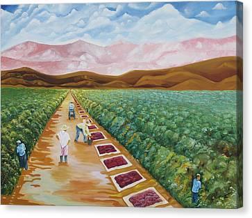Grapes Farmers Canvas Print by Johnny Otilano