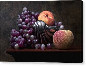 Grapes With Peaches Canvas Print by Tom Mc Nemar