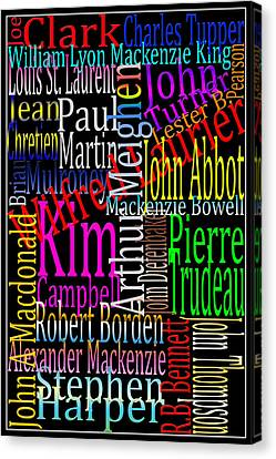 Graphic Prime Ministers Canvas Print by Andrew Fare