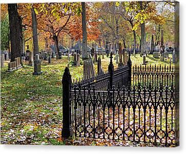 Gravestones Canvas Print by Janice Drew