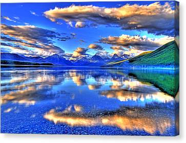 Great Glacier Lake Canvas Print by Scott Mahon