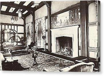 Great Lounge In The Eureka Inn California 1920 Canvas Print by Dwight Goss