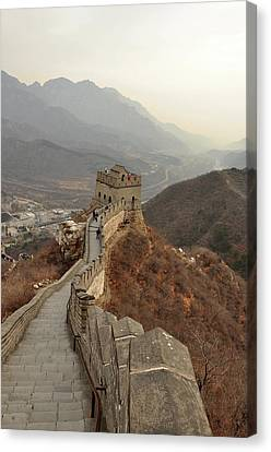 Great Wall Of China Canvas Print by Asifsaeed313