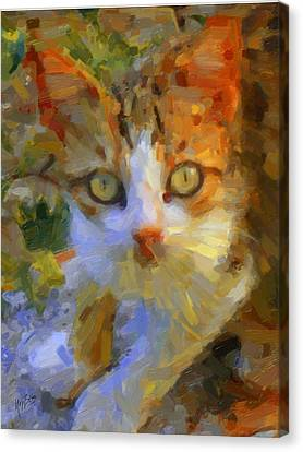 Greek Cat Canvas Print by Nop Briex
