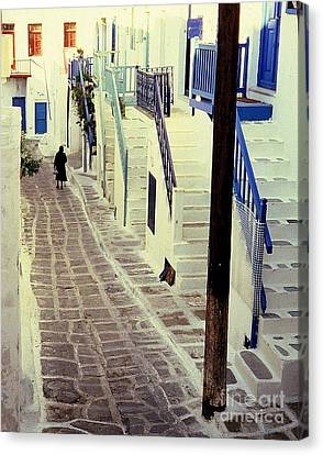 Greek Island Canvas Print by Ranjini Kandasamy