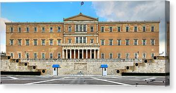 Greek Parliament Canvas Print by Constantinos Iliopoulos