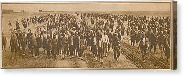 Greek Refugees Were Forced Canvas Print by Everett