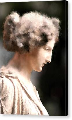 Greek Woman Canvas Print by Ilias Athanasopoulos