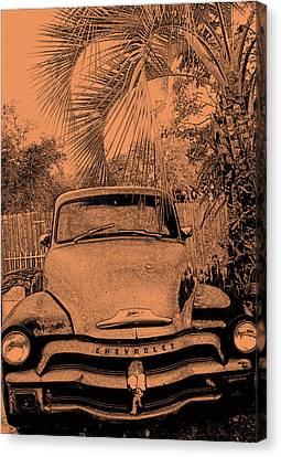 Greeks Truck Canvas Print by Gerald Cooley
