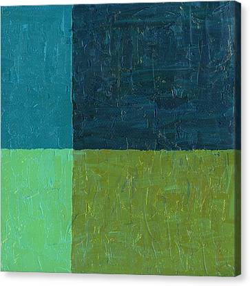Green And Blue Canvas Print by Michelle Calkins