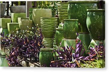 Green Grouping Canvas Print by Teresa Mucha
