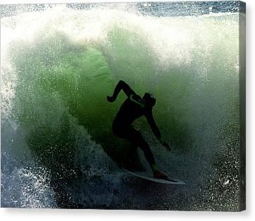 Green Kahuna Canvas Print by Joe Schofield