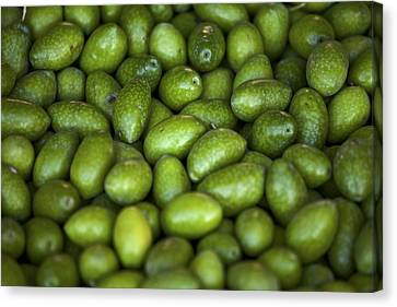 Green Olives Canvas Print by Joana Kruse
