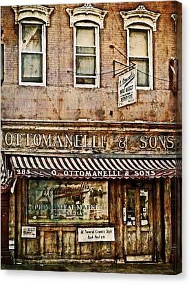 Greenwich Village Meat Market Canvas Print by Kathy Jennings