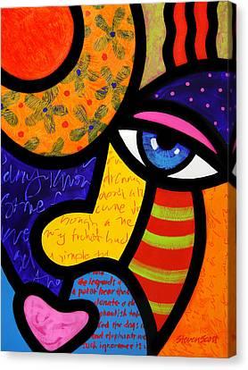 Gretchen Buys A Hat Canvas Print by Steven Scott