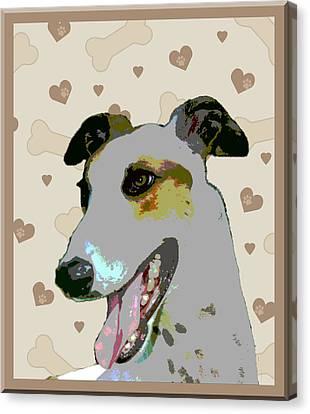Greyhound Canvas Print by One Rude Dawg Orcutt