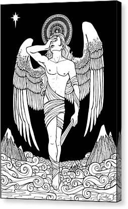 Grieving Angel Canvas Print by Caroline Jamhour