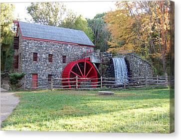 Grist Mill At Wayside Inn Canvas Print by John Small