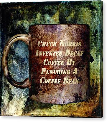 Gritty Chuck Norris 2 Canvas Print by Angelina Vick