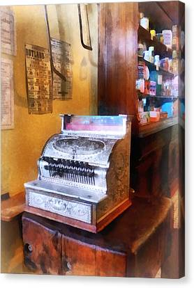 Grocery Store Cash Register Canvas Print by Susan Savad